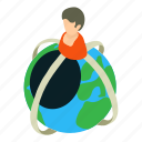 business, earth, isometric, object, planet, social, world