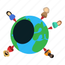 business, earth, isometric, object, people, planet, world