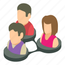 business, group, isometric, object, people, social, team