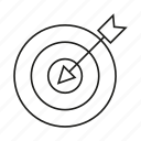 accuracy, arrow, dart, game, target icon