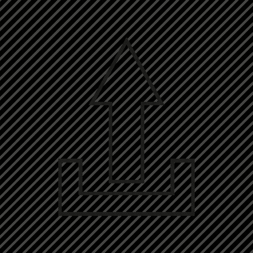 arrow, upload icon