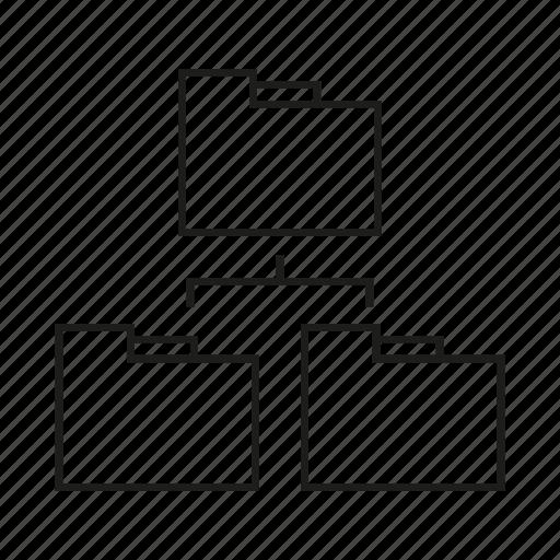 diagram, file, folder icon
