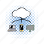 cloud, comics, communication, computing, connection, modern, network icon