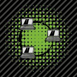 comics, communication, connect, data, exchange, media, network icon