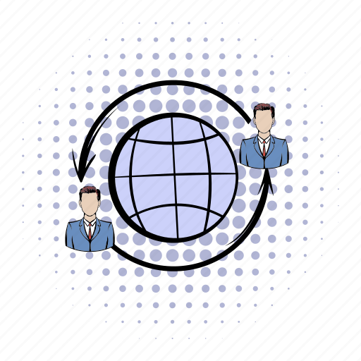 comics, communication, connection, global, internet, network, team icon