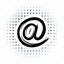 address, comics, communication, email, internet, mail, message icon