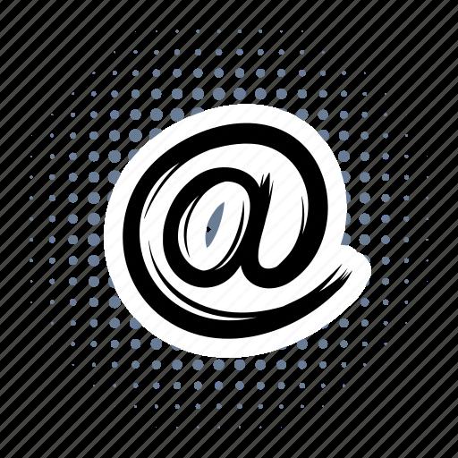 address, comics, communication, email, internet, mail, message icon