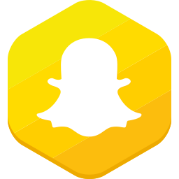 hexagonal, messages, snapchat, socia-network, video icon