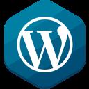 blog, blue, cms, hexagonal, wordpress
