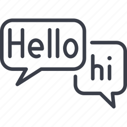 chat, hello, hi, message, social, social network, speech icon