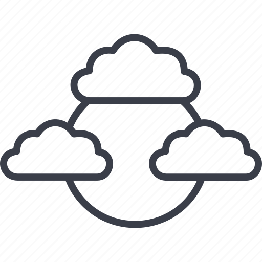 cloud, clouds, computing, internet, server, social network, socialnetwork icon