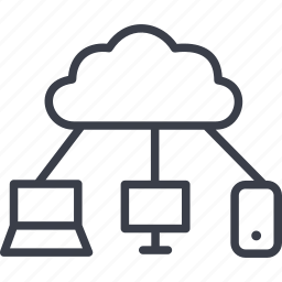 cloud, communication, computing, connection, internet, social network, socialnetwork icon
