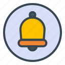 bell, rounded, notification, alert, alarm