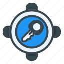 key, target, goal, lock, security