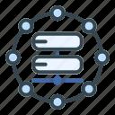 database, server, connected, storage, data