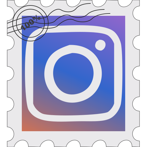 instagram, media, postage, social icon