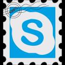 media, postage, skype, social icon