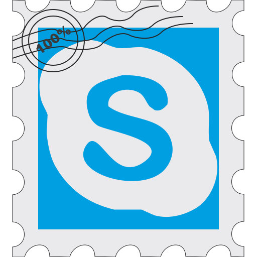 media, postage, skype, social icon