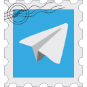 media, postage, social, telegram icon