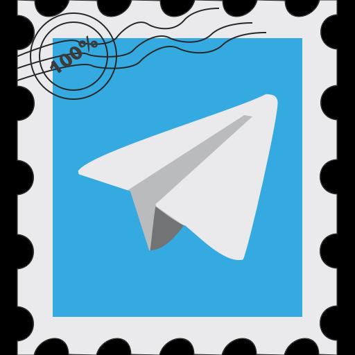 media, postage, social, telegram icon