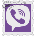 media, postage, social, viber icon