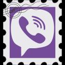 media, postage, social, viber icon
