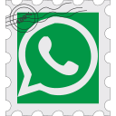 media, postage, social, whatsapp icon
