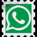 media, postage, social, whatsapp icon