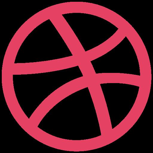 dribbble, logo, network, social icon