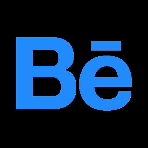 behance, logo, network, social icon