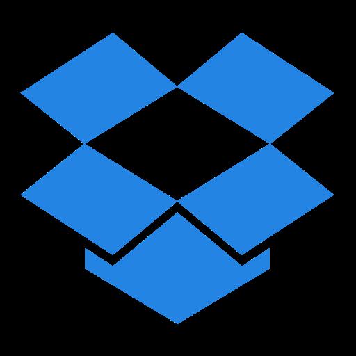 dropbox, logo, network, social icon