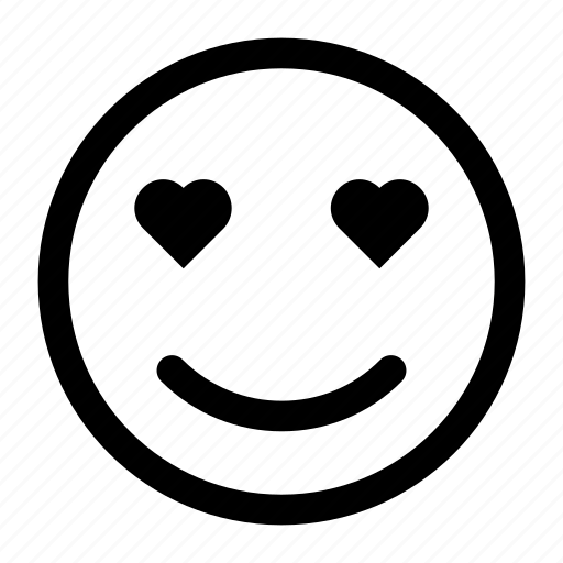 emoji, emotions, love, smile, smiley icon icon