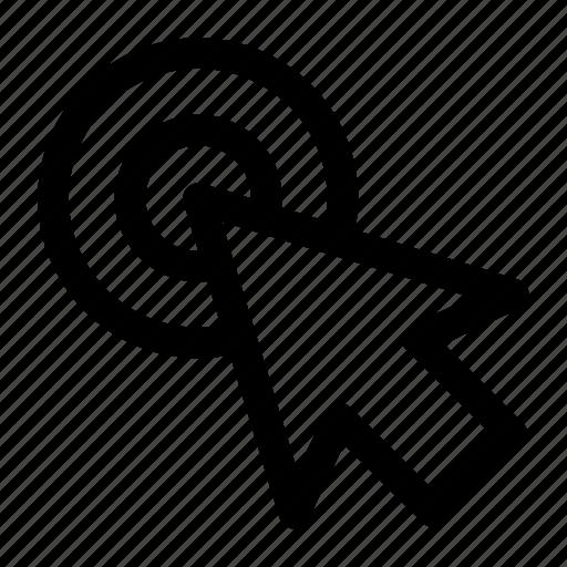 arrow, cursor, double click icon icon