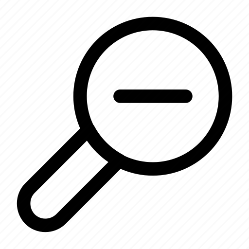 minus, out, zoom, zoom out icon icon