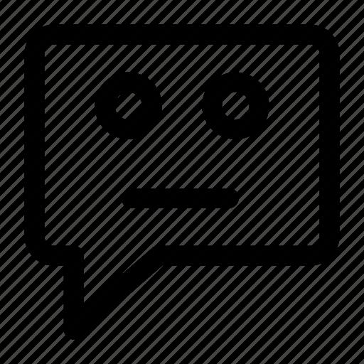 bubble, chat, comment, emoji, emoticon, sad icon icon