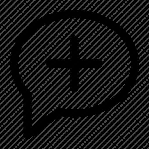 add, bubble, chat, comment, speech icon icon icon