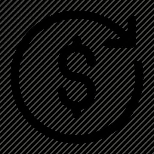 Arrow, circle, dollar, dollar change, exchange, money, money exchange icon icon - Download on Iconfinder