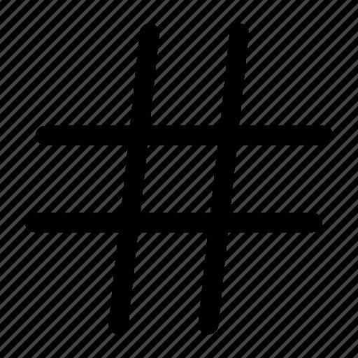 essentials, hash, hashtag, signs, social, tag icon icon