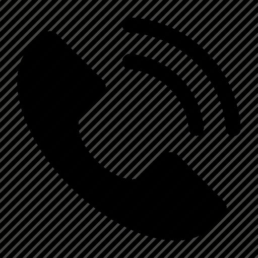 helpline, hotline, phone receiver, receiver, telecommunication icon icon