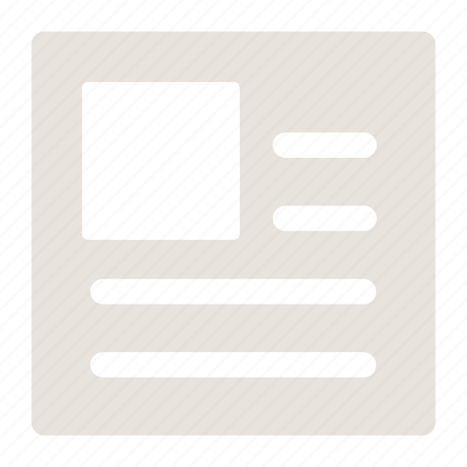 media, news, newspaper, paper icon icon