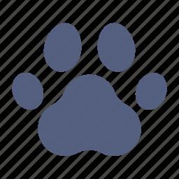 animals, domestic, foot, nature, paw, pet, print icon icon
