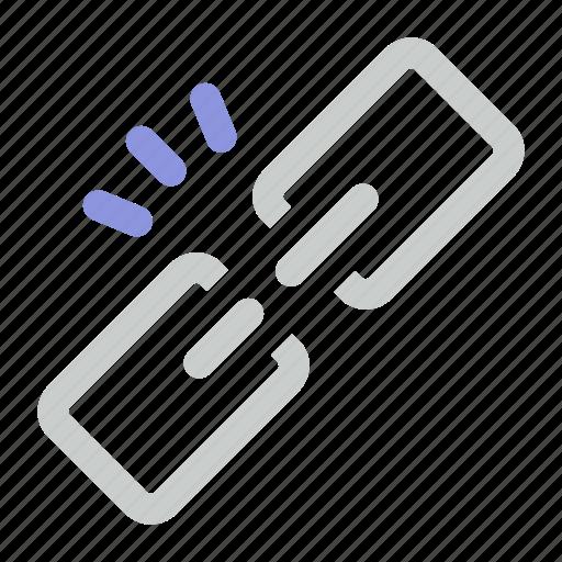 broken, link icon icon