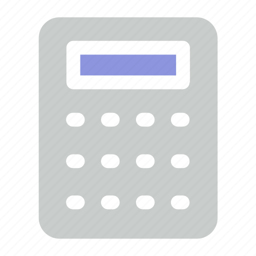 calculator, office, stationery icon icon
