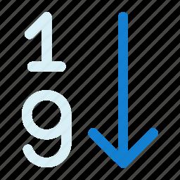 number, numeric, numeric list, numeric sorting, sorting icon icon