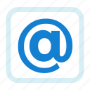 address, at, browser, email, internet, web icon