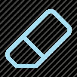 erase, eraser, remove icon icon