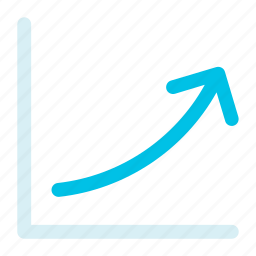 arrow, bars, chart, down, growth, statistics, up icon icon