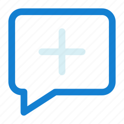 add, chat, comment, speech icon icon