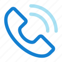 helpline, hotline, phone receiver, receiver, telecommunication icon icon