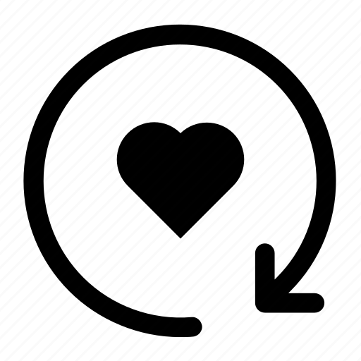 Fill, heart, refresh icon icon - Download on Iconfinder